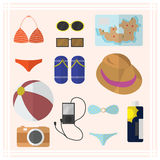 Summer accessories icon great for any use. Vector EPS10. Stock Image