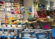 Summer  accessories shop Stock Photos