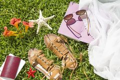 Summer accessories royalty free stock photo