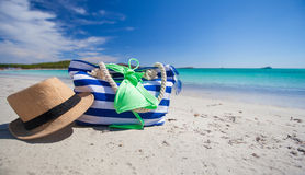 Summer accessories, swimsuit, sunglasses, bag and Stock Photo