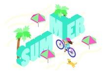 Summer activities. royalty free illustration