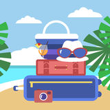 Summer activities Royalty Free Stock Images