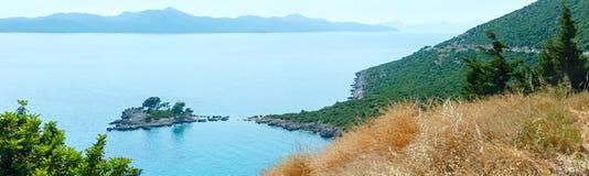 Summer Adriatic Sea coast (Croatia) Royalty Free Stock Images