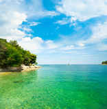 Summer Adriatic Sea Landscape in Croatia Royalty Free Stock Photo