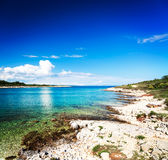 Summer Adriatic Seascape in Croatia Royalty Free Stock Photos