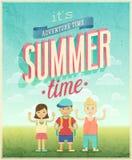 Summer Adventure poster. Stock Photos