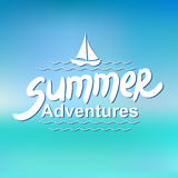 Summer adventures - typographic design Stock Photo