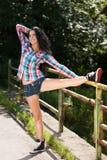 Summer aerobics Royalty Free Stock Photography