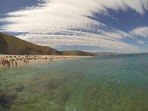 Summer in Almeria stock image