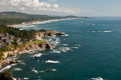 Otter Crest State Scenic Viewpoint. Summer along the Oregon coast royalty free stock images