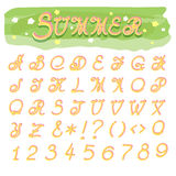 Summer Alphabet Royalty Free Stock Images