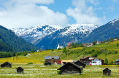 Summer Alpine country view Stock Photo