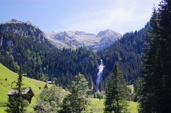 Summer alpine mountain landscape Royalty Free Stock Images
