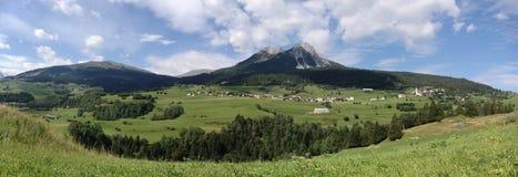 Summer alpine mountain panorama stock image