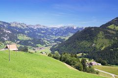 Summer alpine mountains Royalty Free Stock Photos