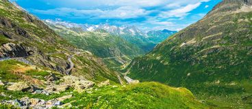 Summer Alpine Panorama Royalty Free Stock Image