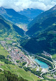Summer Alps mountain pass Stock Image