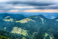 Summer in the Alps and Rain Storm Royalty Free Stock Photography