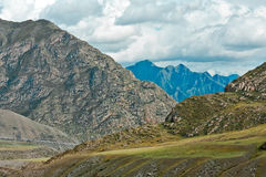 Summer Altay mountain with clouds Stock Images