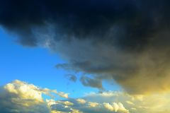 Summer. Amazing picture Thunder sky before rain. In Sweden royalty free stock images