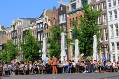 Summer in Amsterdam, Holland Stock Photo