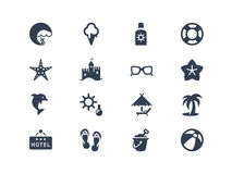 Summer And Beatch Icons Stock Images
