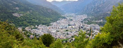 Summer of Andorra La Vella, Andorra. Cityscape in Summer of Andorra La Vella, Andorra stock photos