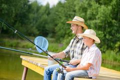 Summer angling Royalty Free Stock Images