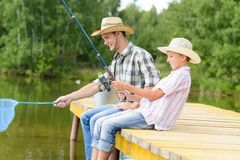Summer angling Stock Photo