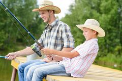 Summer angling Stock Images
