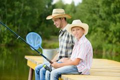 Summer angling Royalty Free Stock Photography