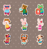 Summer animal stickers Stock Image