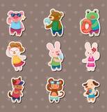 Summer animal stickers Stock Image