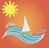 Summer applique banner Royalty Free Stock Photos