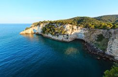 Summer Arch of San Felice, Italy. Summer evening Architello Arch of San Felice on the Gargano peninsula in Puglia, Italy Stock Images