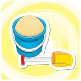 Summer Art 4 - Sand Bucket Stock Image