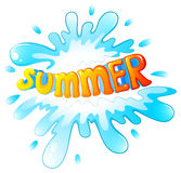 Summer artwork. Illustration of a summer artwork on a white background Royalty Free Stock Images