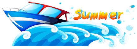 Summer artwork. Illustration of a summer artwork on a white background Stock Photography