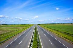 Summer asphalt road Royalty Free Stock Images
