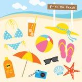 Summer At The Beach Royalty Free Stock Photos