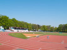 Summer athletic stadium Stock Photo