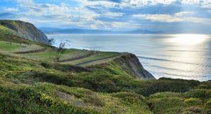 Summer Atlantic coastline Spain. Stock Photo