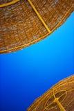 Summer atraw umbrella Stock Images