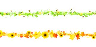 Summer and autumn. Line for decorated border or frame Stock Images