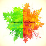 Summer and autumn foliage season banner Stock Photo