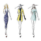 Summer and autumn look, fashion illustration Royalty Free Stock Photo