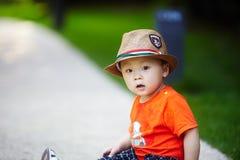 Summer baby boy Stock Photos