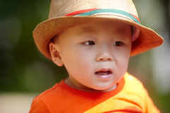 Summer baby boy Royalty Free Stock Image
