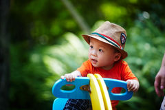 Summer baby boy Royalty Free Stock Photo