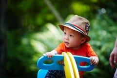 Summer baby boy Royalty Free Stock Photo
